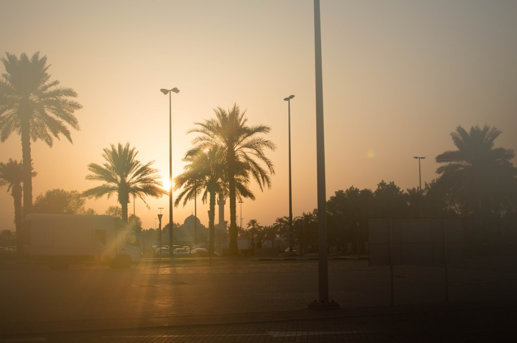 Sunset At Deira Palm Station, Dubai, UAE