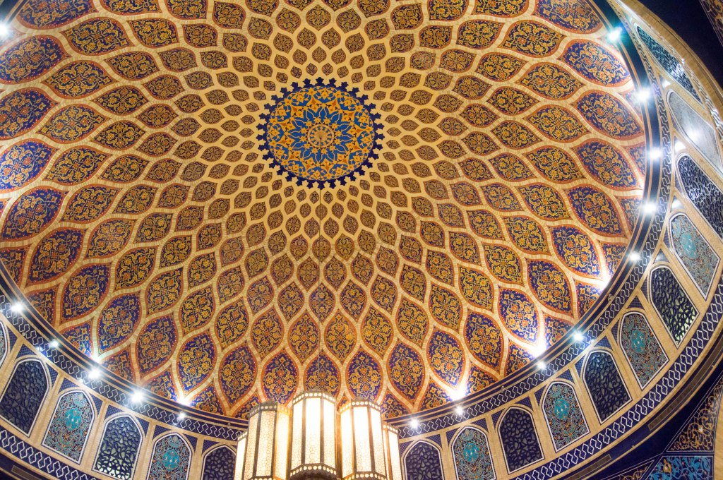 Tiled Domed Ceiling, Persian Court, Ibn Battuta Mall, Dubai, UAE