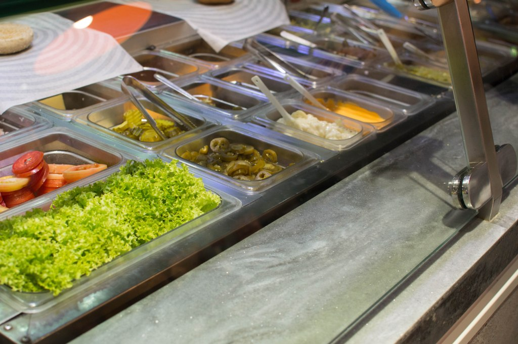 Topping Options At South St Burger, Ibn Battuta Mall, Dubai, UAE