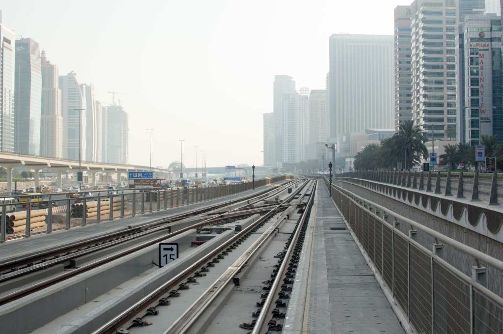 Tram Tracks, Dubai, UAE