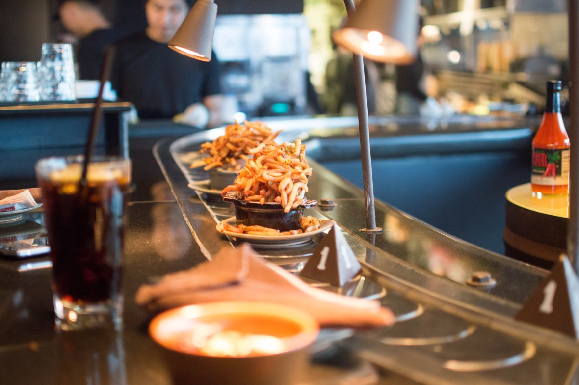 Truffle Fries Arriving, Slider Station, Dubai, UAE