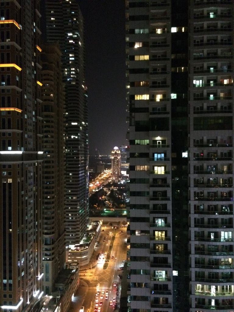 View From The Flat, Torch Tower, Dubai Marina, UAE