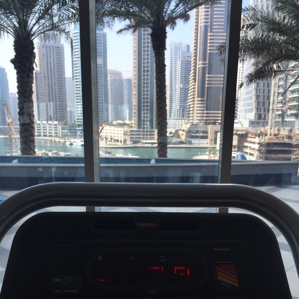 View From The Gym, Torch Tower, Dubai Marina, Dubai, UAE