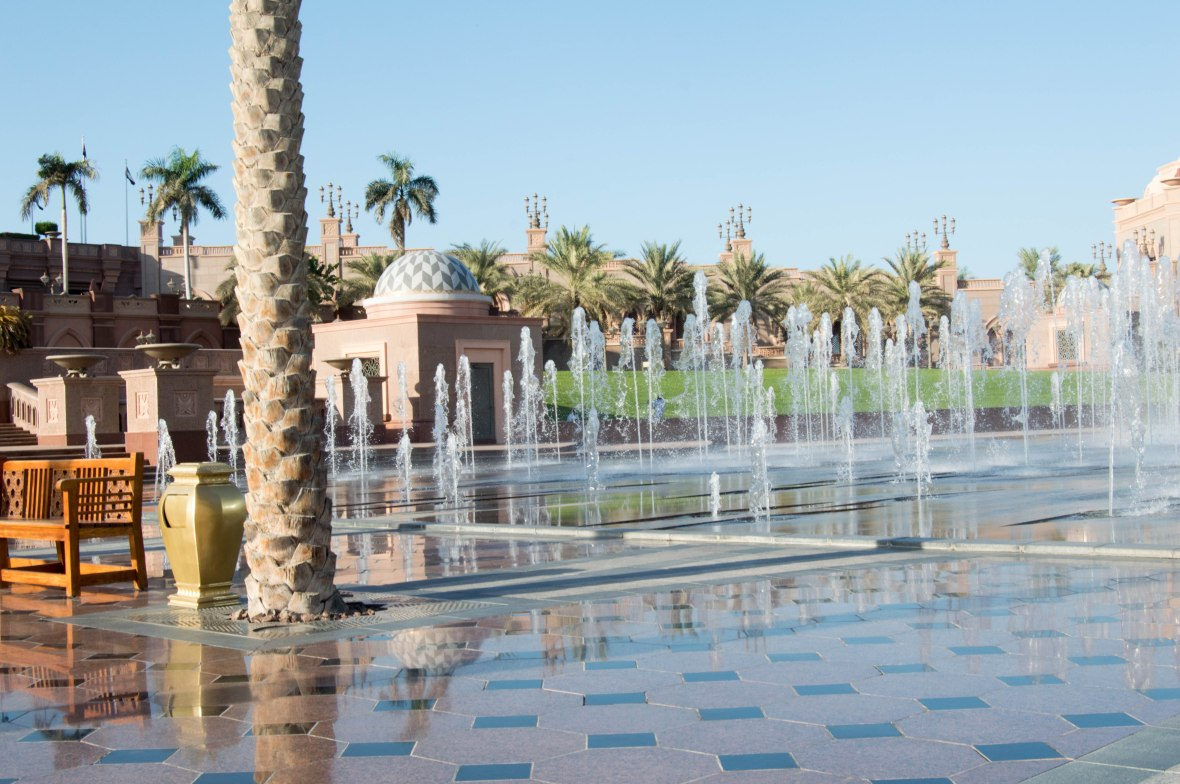 Water Fountains, Emirates Palace Hotel, Abu Dhabi, UAE