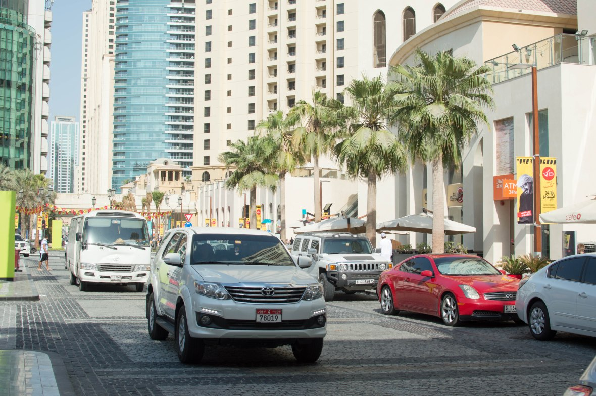 Cars In Jumeirah Beach Residence, (JBR), Dubai, UAE