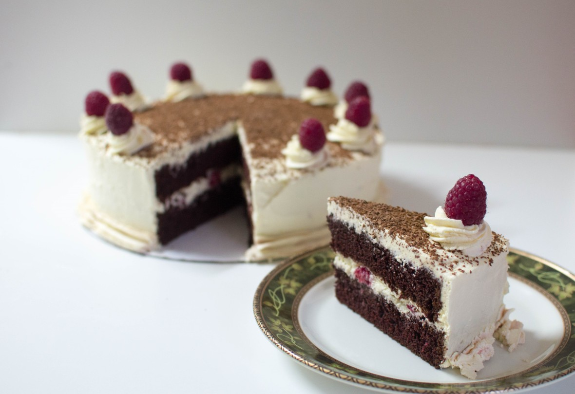 Chocolate Cake With Raspberry Cream