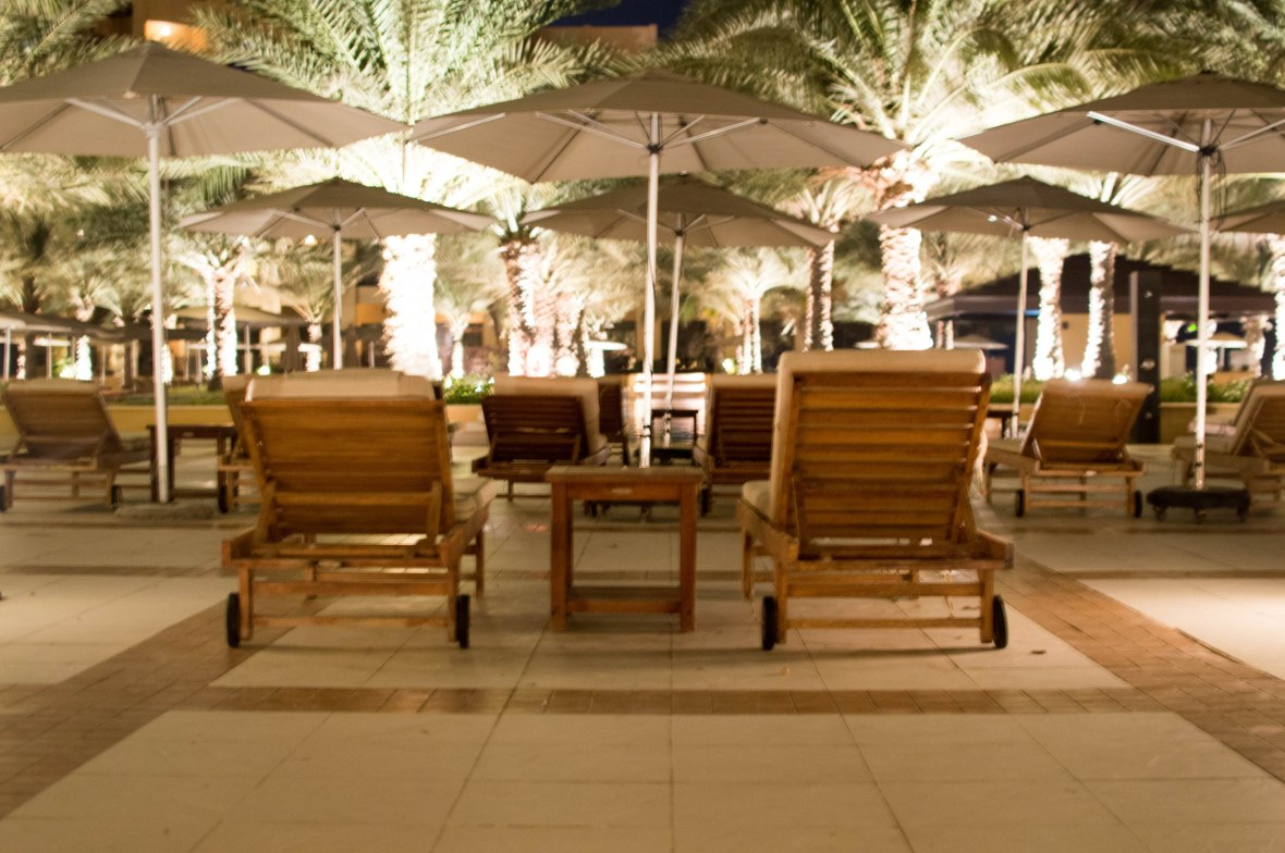 Deck Chairs And Pool, Hilton Resort, Ras Al Khaimah, UAE