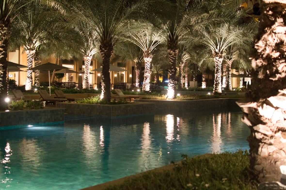 Pool And Palm Trees, Hilton Resort, Ras Al Khaimah, UAE