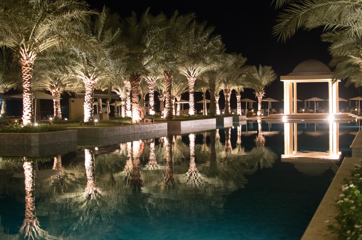 Pool At Night, Hilton Resort, Ras Al Khaimah, UAE