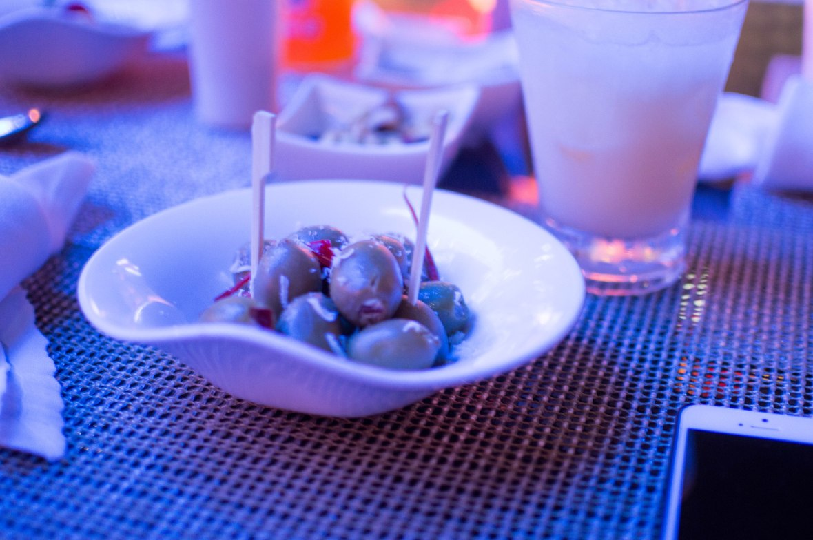 Stuffed Olives With Cheese, Siddharta Lounge, Dubai, UAE
