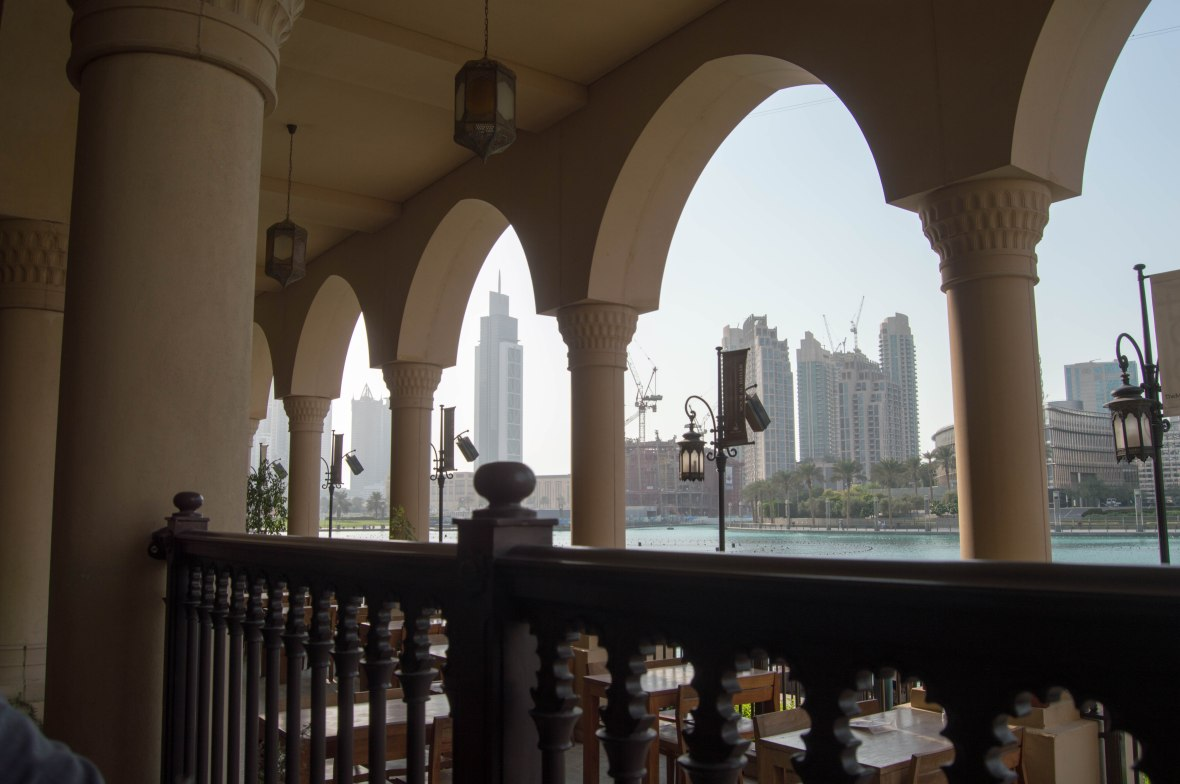View From Baker & Spice, Souk Al Bahar, UAE