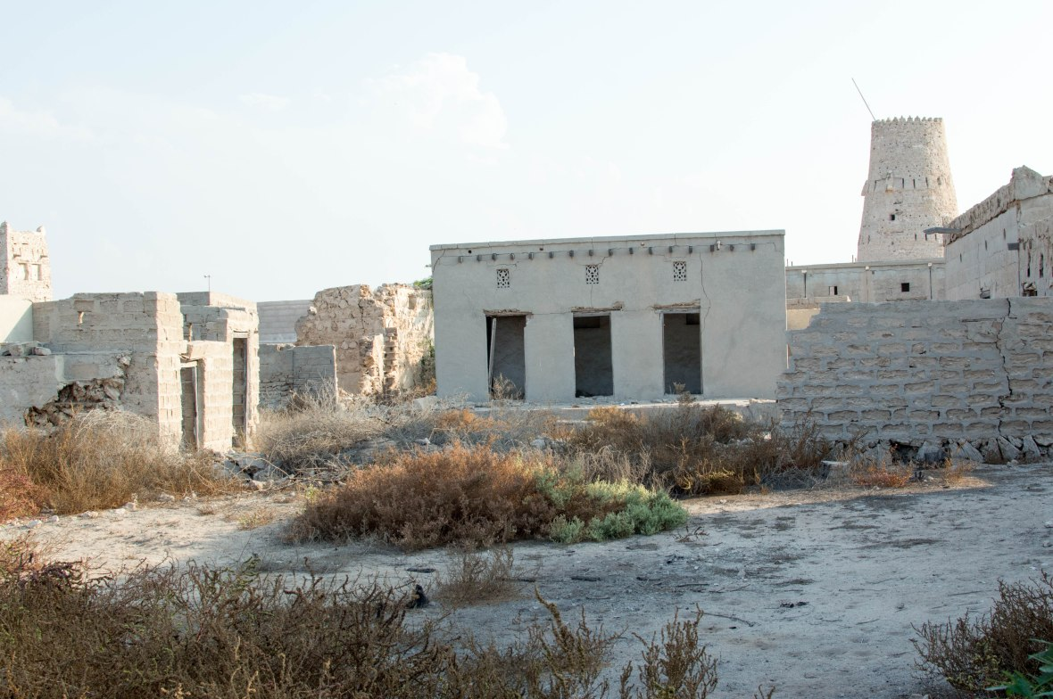 Abandoned Buildings, Abandoned City, Al Jazirat Al Hamra, Ras Al Khaimah, UAE