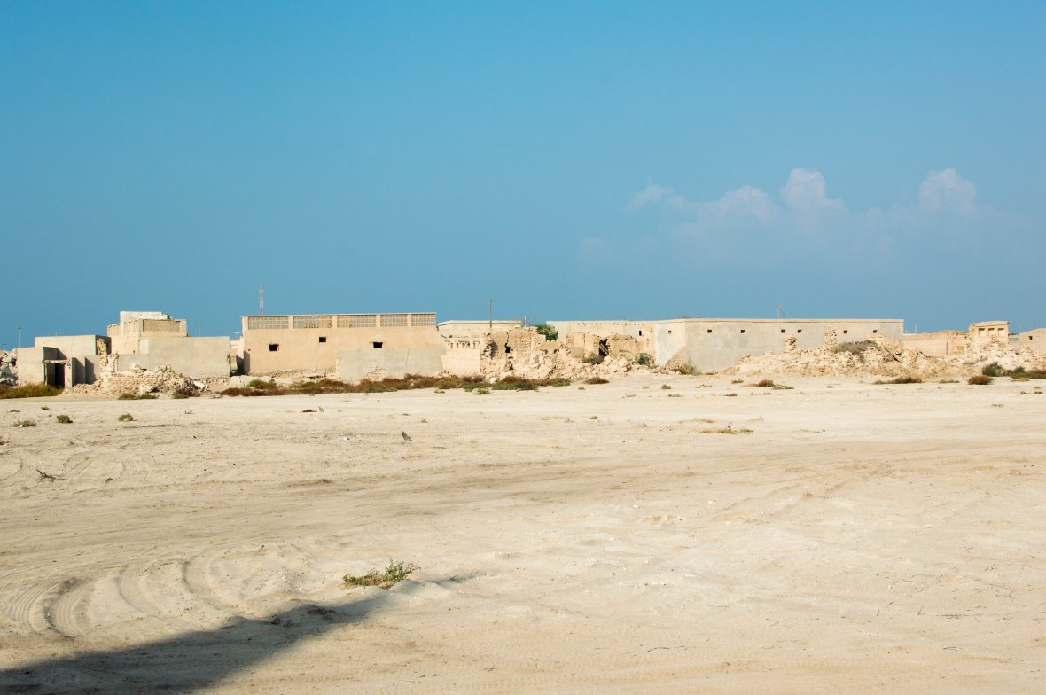 Abandoned Homes Under A Blue Sky, Abandoned City, Al Jazirat Al Hamra, Ras Al Khaimah, UAE