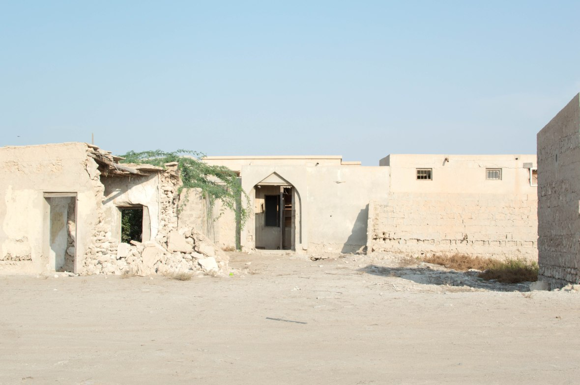 Arched Doorway, Abandoned City, Al Jazirat Al Hamra, Ras Al Khaimah, UAE
