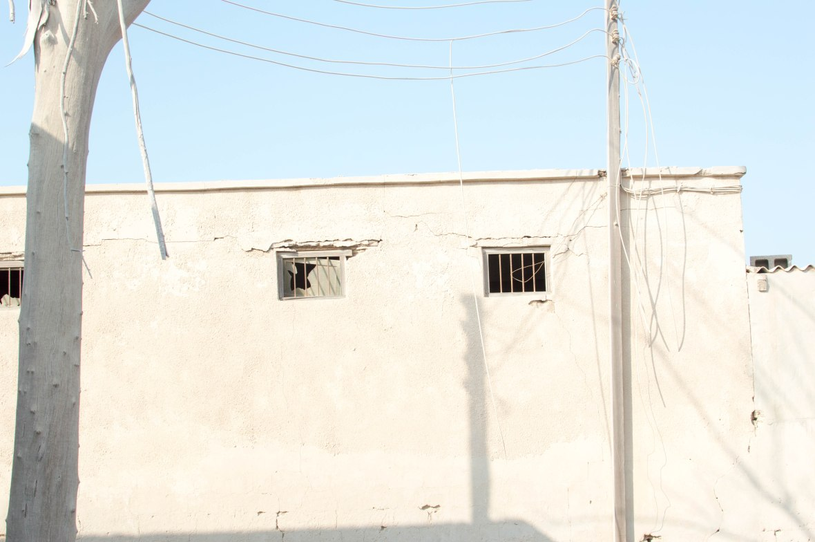 Bars On The Windows, Abandoned City, Al Jazirat Al Hamra, Ras Al Khaimah, UAE