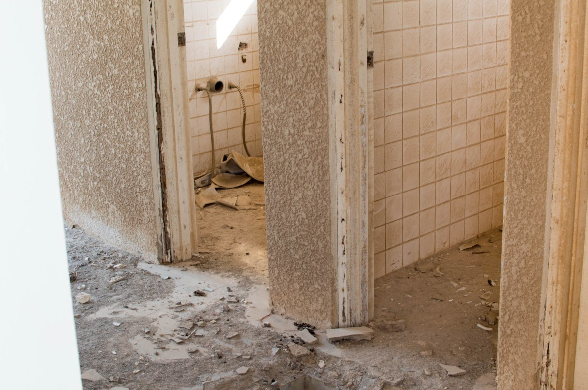 Bathroom, Abandoned City, Al Jazirat Al Hamra, Ras Al Khaimah, UAE