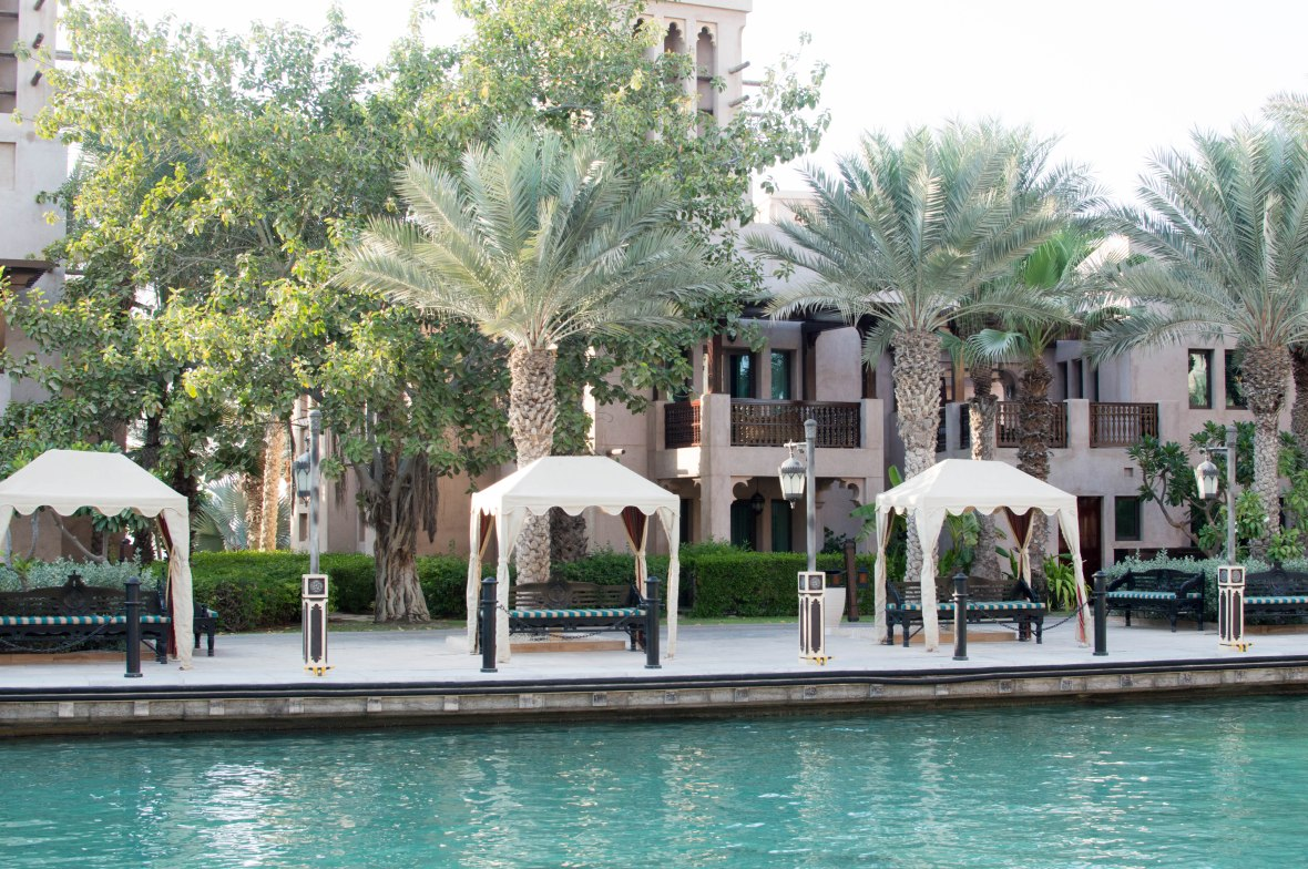 Benches And Palm Trees, Madinat Jumeirah, Dubai, UAE