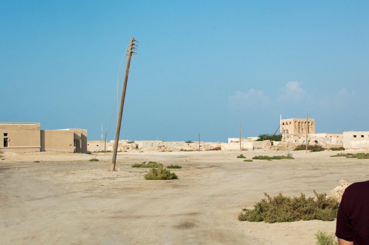 Broken Cables, Abandoned City, Al Jazirat Al Hamra, Ras Al Khaimah, UAE