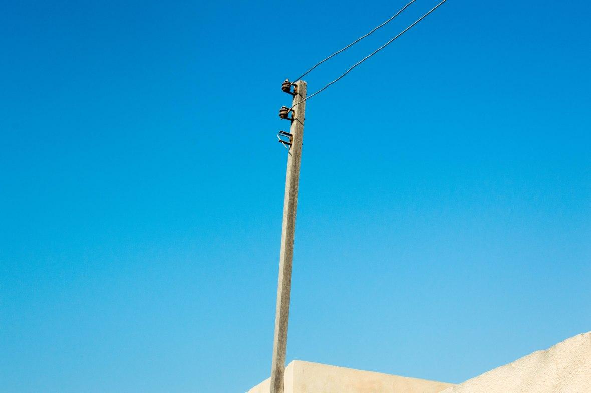 Broken Telephone Lines, Abandoned City, Al Jazirat Al Hamra, Ras Al Khaimah, UAE