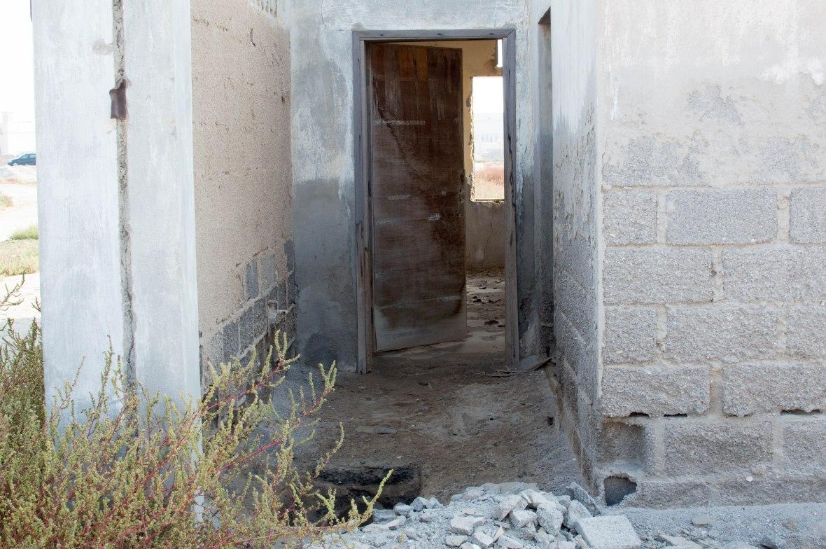 Collapsed Floor, Abandoned City, Al Jazirat Al Hamra, Ras Al Khaimah, UAE