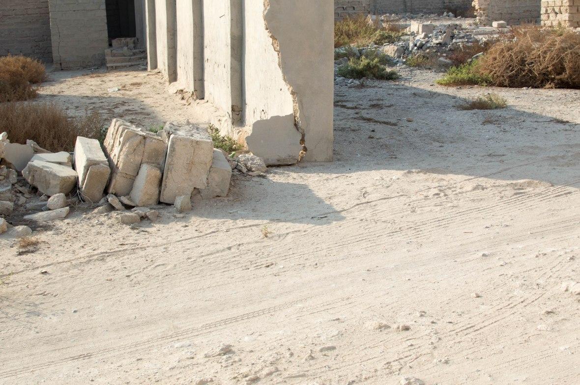 Collapsed Walls, Abandoned City, Al Jazirat Al Hamra, Ras Al Khaimah, UAE