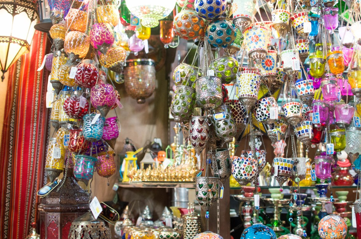 Colourful Lamps For Sale, Madinat Jumeirah, Dubai, UAE