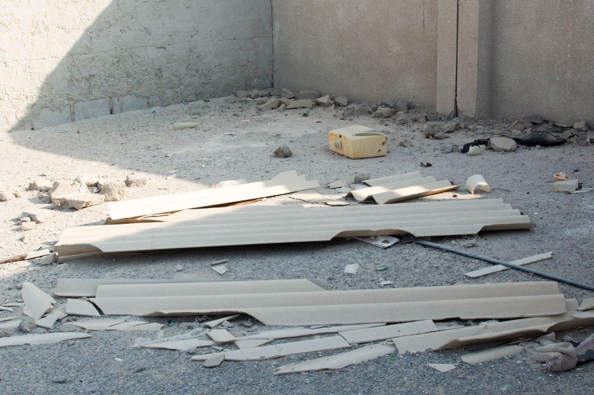 Corregated Panels, Abandoned City, Al Jazirat Al Hamra, Ras Al Khaimah, UAE
