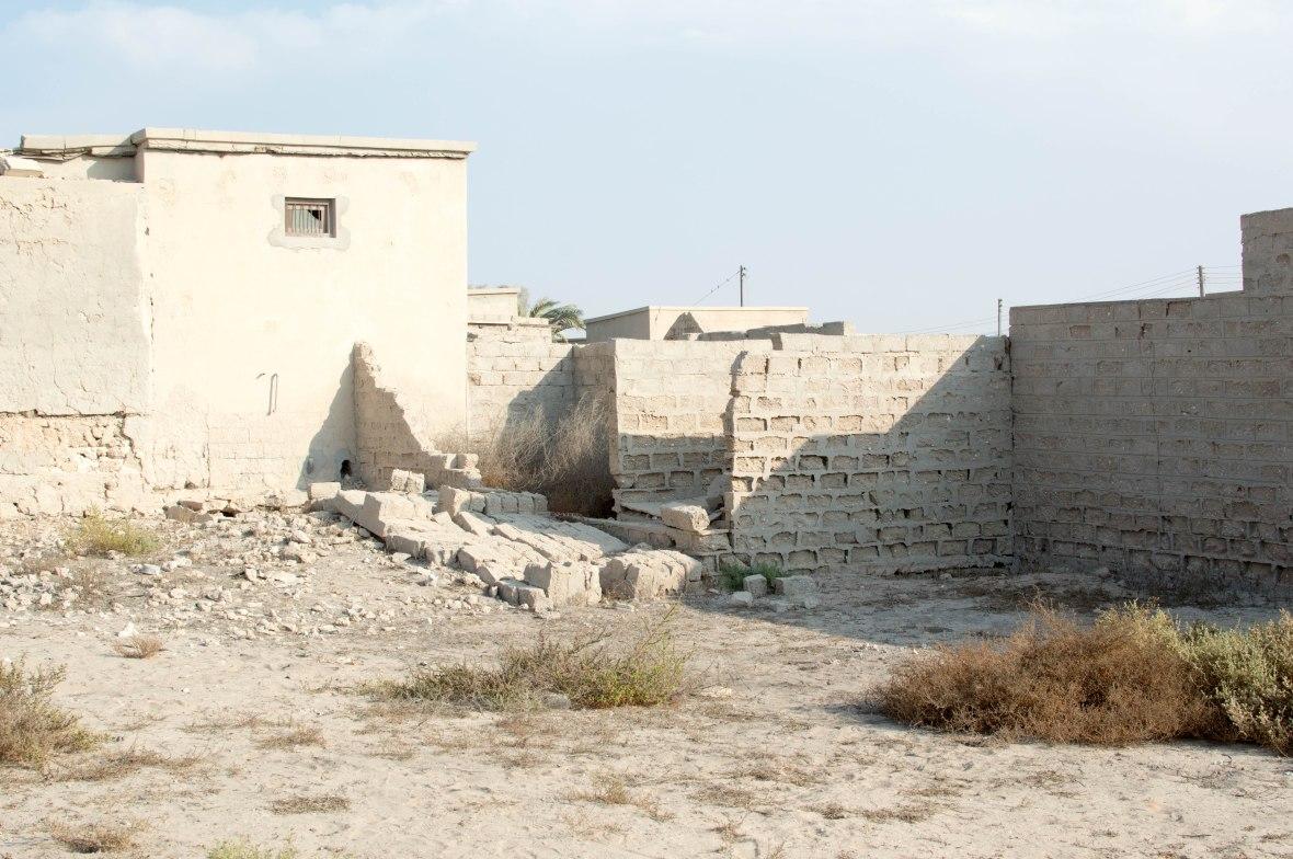 Crumbled Wall, Abandoned City, Al Jazirat Al Hamra, Ras Al Khaimah, UAE