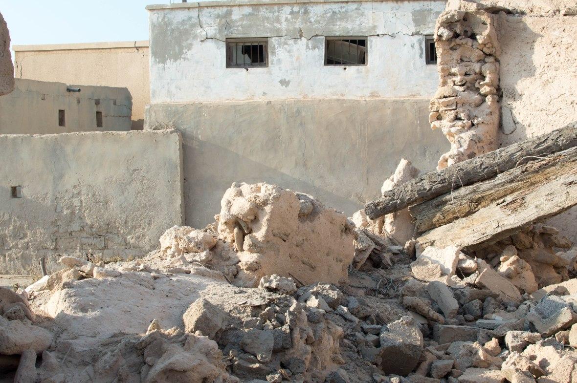 Crumbled Walls, Abandoned City, Al Jazirat Al Hamra, Ras Al Khaimah, UAE