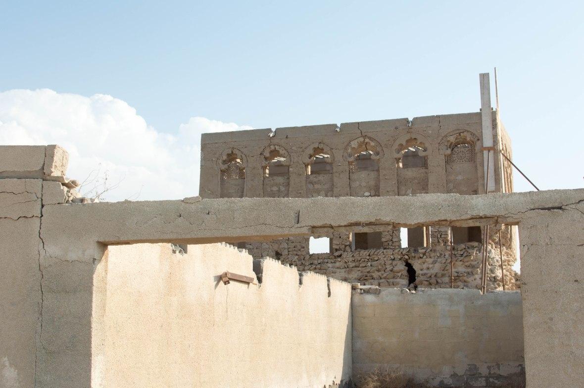 Crumbling Architecture, Abandoned City, Al Jazirat Al Hamra, Ras Al Khaimah, UAE