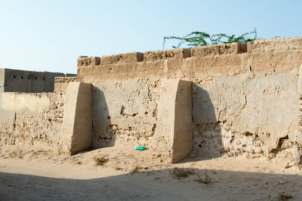 Deteriorating Wall, Abandoned City, Al Jazirat Al Hamra, Ras Al Khaimah, UAE