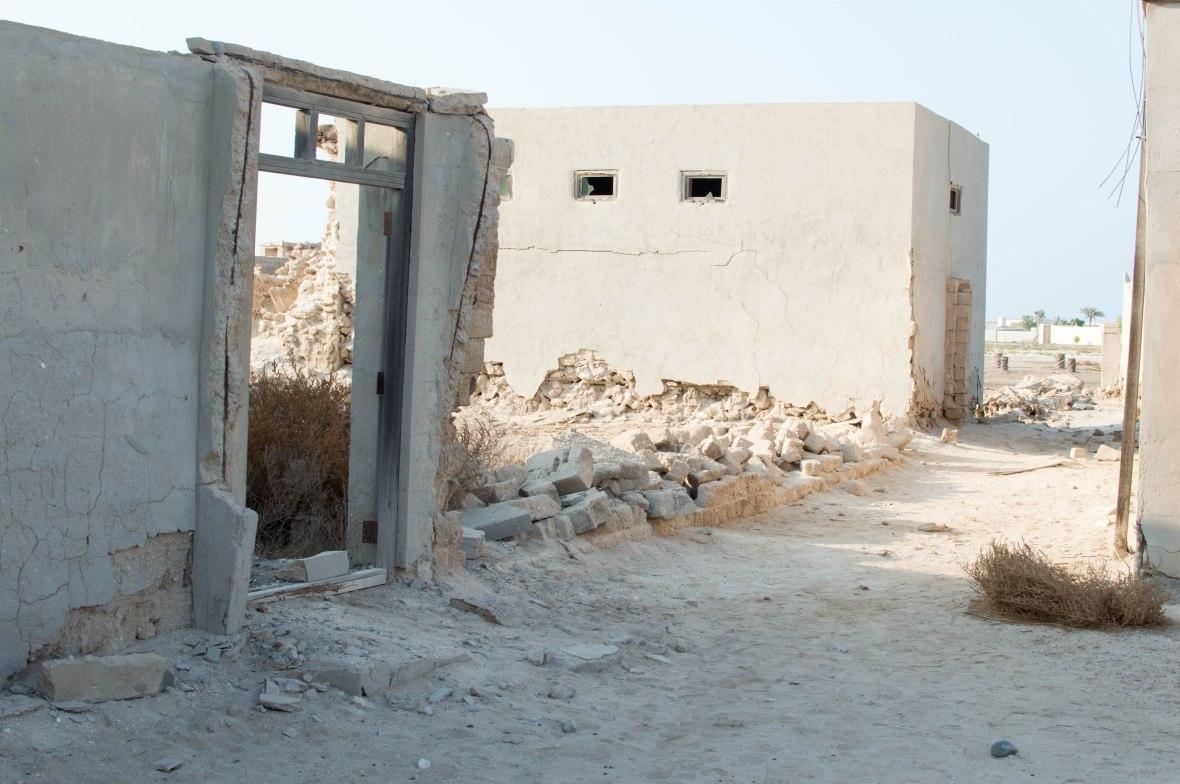 Door Frame, Abandoned City, Al Jazirat Al Hamra, Ras Al Khaimah, UAE