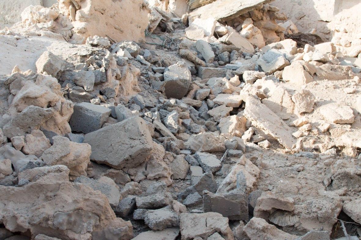 Fallen Walls, Abandoned City, Al Jazirat Al Hamra, Ras Al Khaimah, UAE