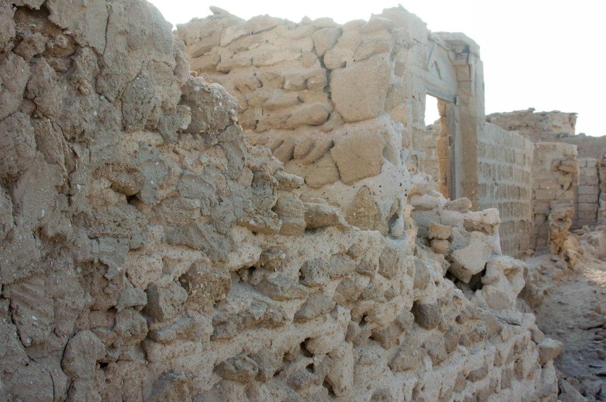 Falling Walls, Abandoned City, Al Jazirat Al Hamra, Ras Al Khaimah, UAE