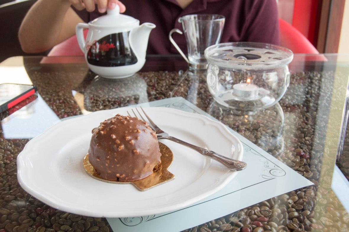 Ferrero Rocher Cake, Cafe Barbera, Ras Al Khaimah, UAE