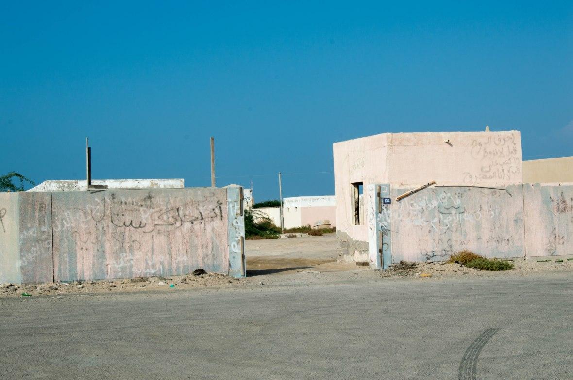 Graffiti, Abandoned City, Al Jazirat Al Hamra, Ras Al Khaimah, UAE