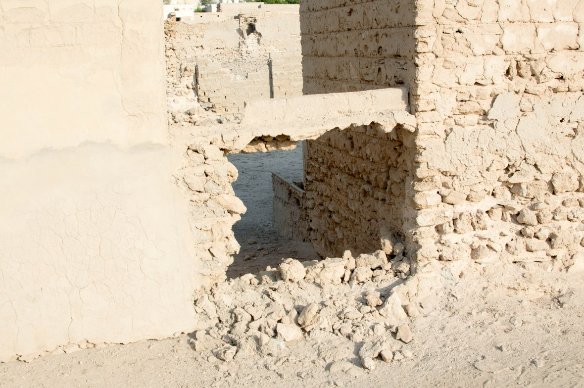 Holes In A Wall, Abandoned City, Al Jazirat Al Hamra, Ras Al Khaimah, UAE