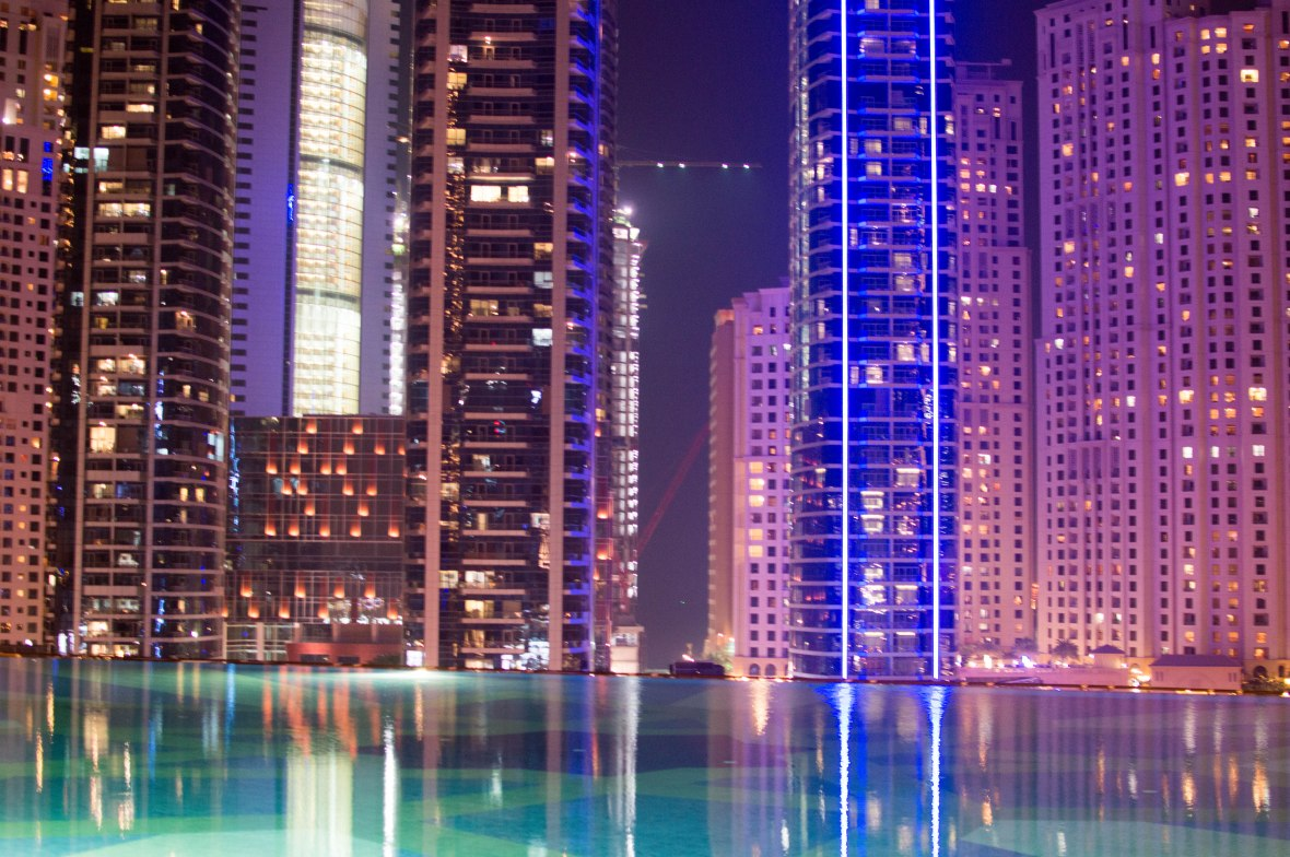 Infinity Pool, Shades at The Address Dubai Marina, Entrance, Dubai, UAE