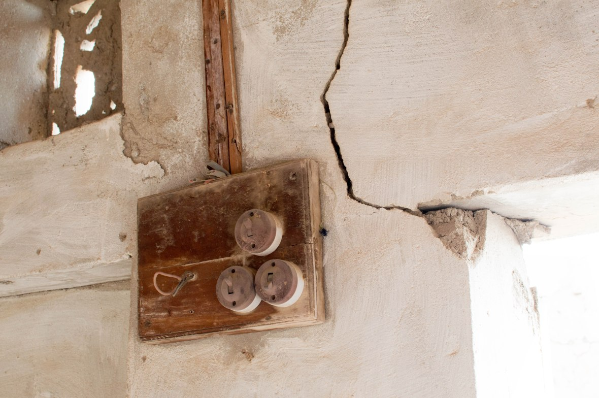 Light Switches, Abandoned City, Al Jazirat Al Hamra, Ras Al Khaimah, UAE