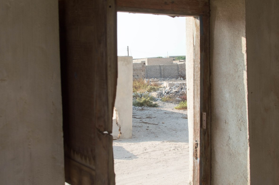 Looking Out From An Abandoned House, Abandoned City, Al Jazirat Al Hamra, Ras Al Khaimah, UAE