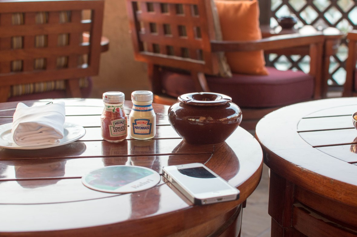 Mini Sauces, Bahri Bar, Madinat Jumeirah, Dubai, UAE