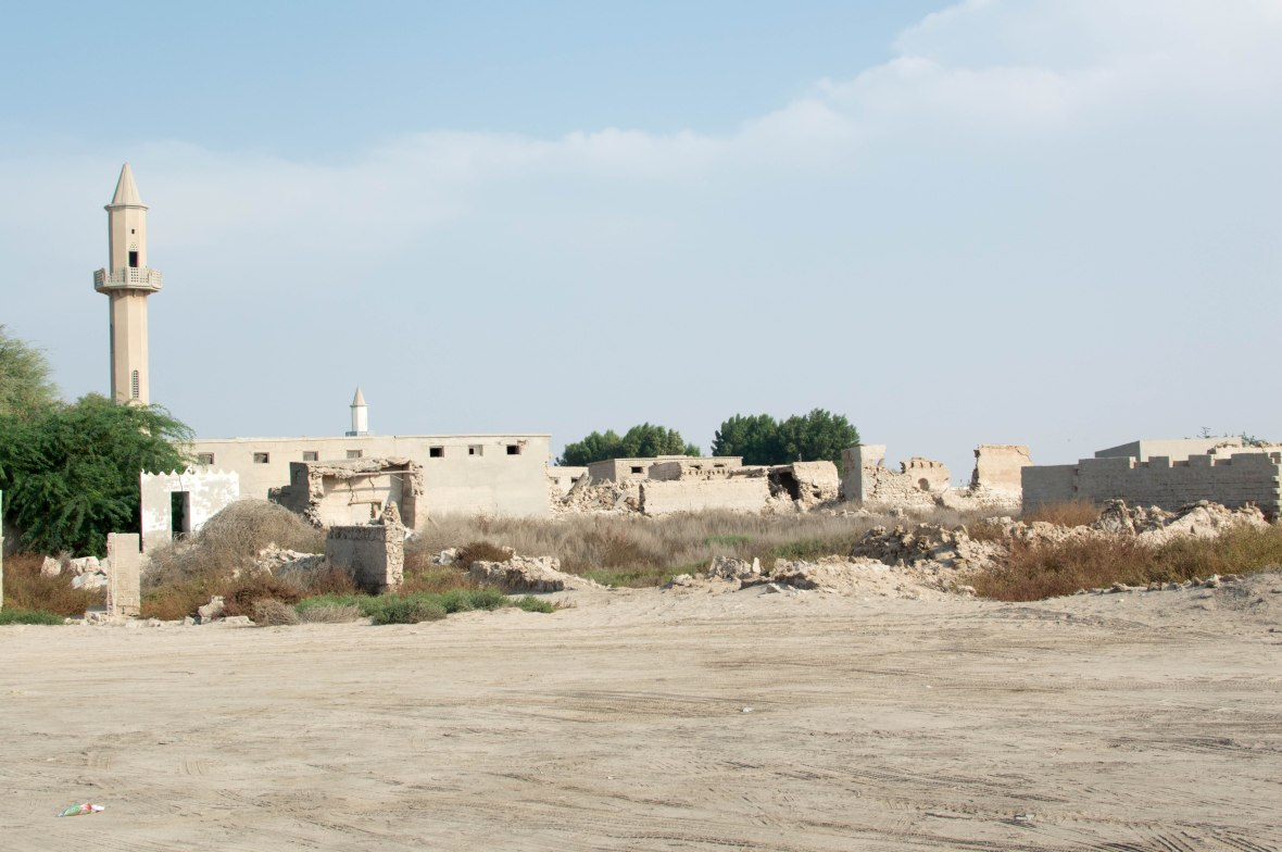 Mosque From Afar, Abandoned City, Al Jazirat Al Hamra, Ras Al Khaimah, UAE