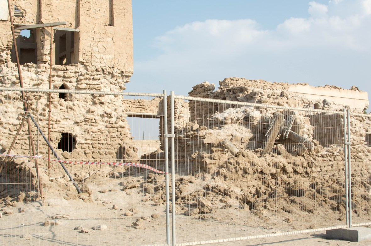 No Access To A Crumbling Building, Abandoned City, Al Jazirat Al Hamra, Ras Al Khaimah, UAE
