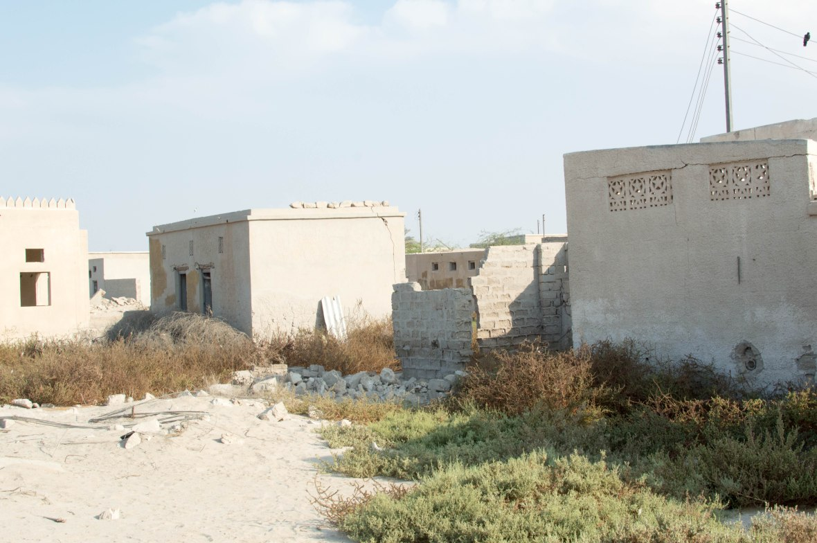 Old Buildings, Abandoned City, Al Jazirat Al Hamra, Ras Al Khaimah, UAE