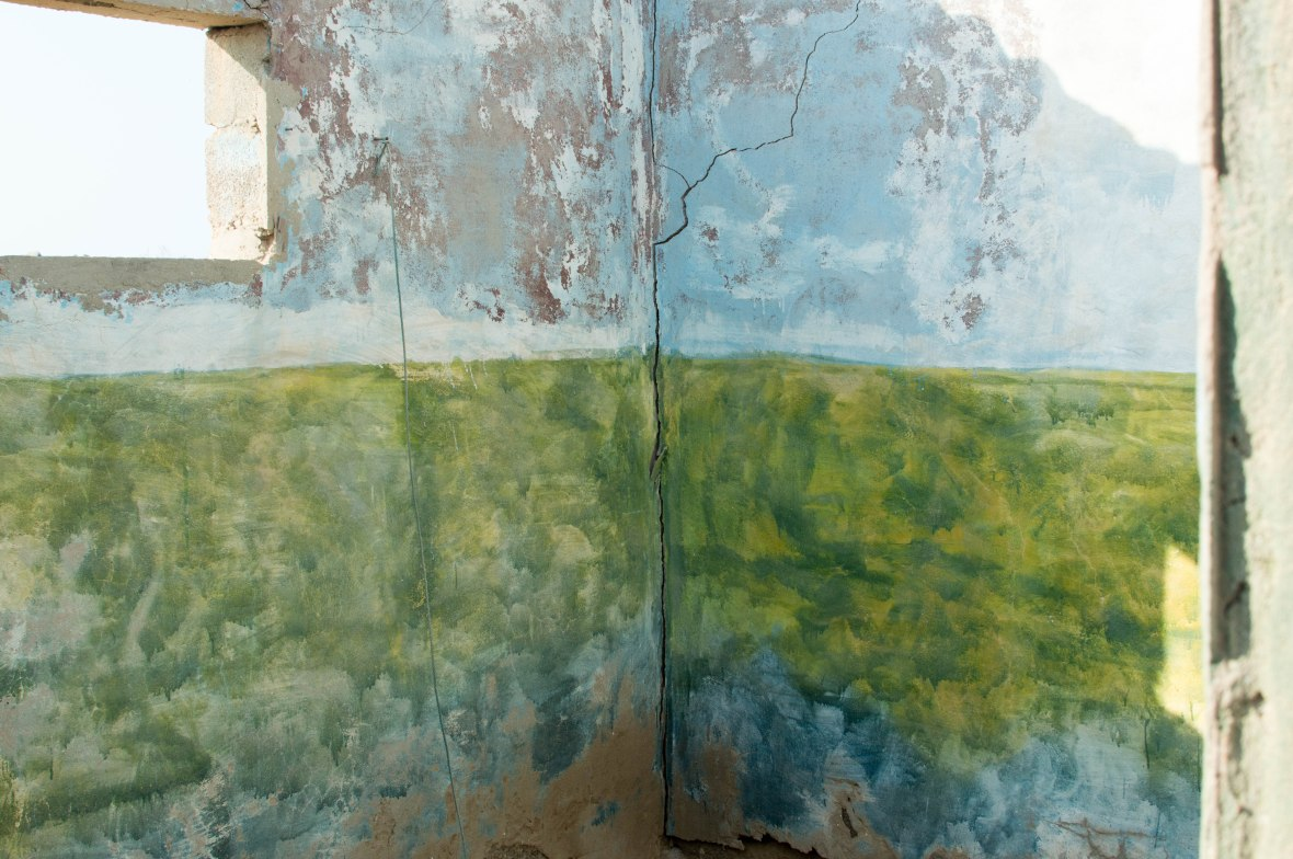 Painted Walls In School, Abandoned City, Al Jazirat Al Hamra, Ras Al Khaimah, UAE