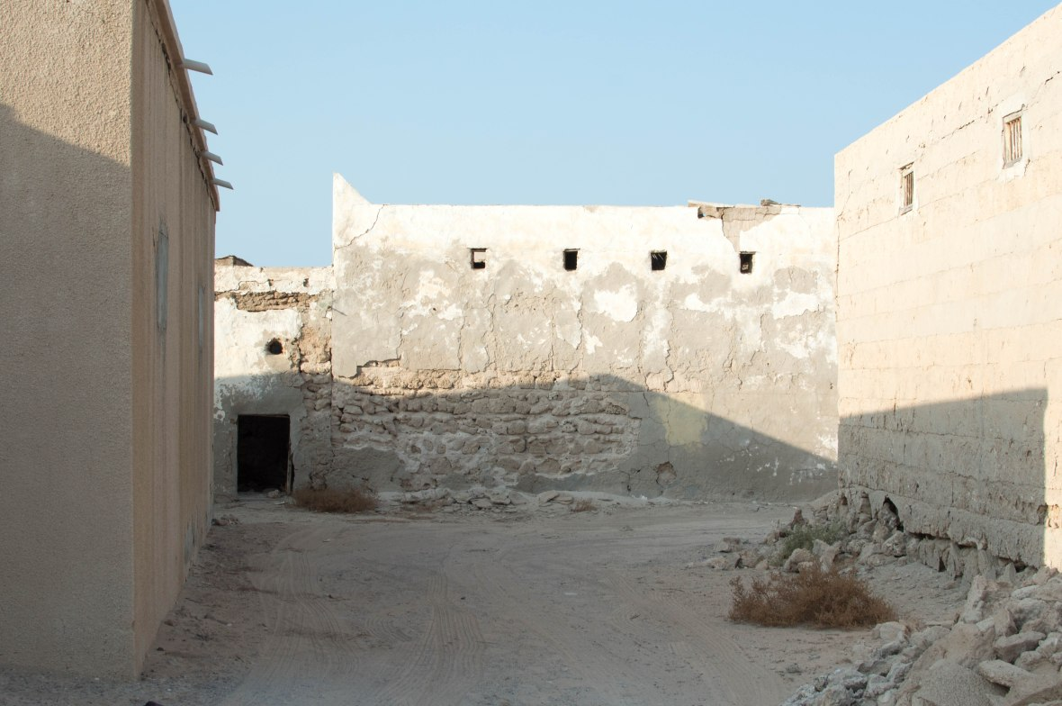 Passage Between Homes, Abandoned City, Al Jazirat Al Hamra, Ras Al Khaimah, UAE
