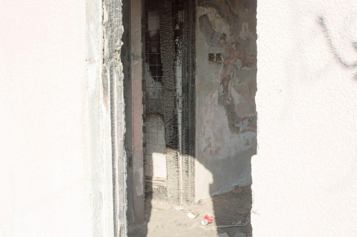 Rotting Door Frame, Abandoned City, Al Jazirat Al Hamra, Ras Al Khaimah, UAE