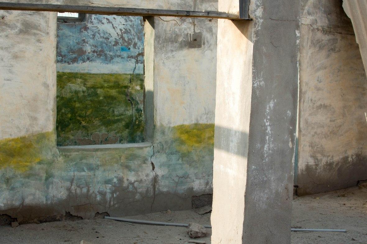School Walls, Abandoned City, Al Jazirat Al Hamra, Ras Al Khaimah, UAE