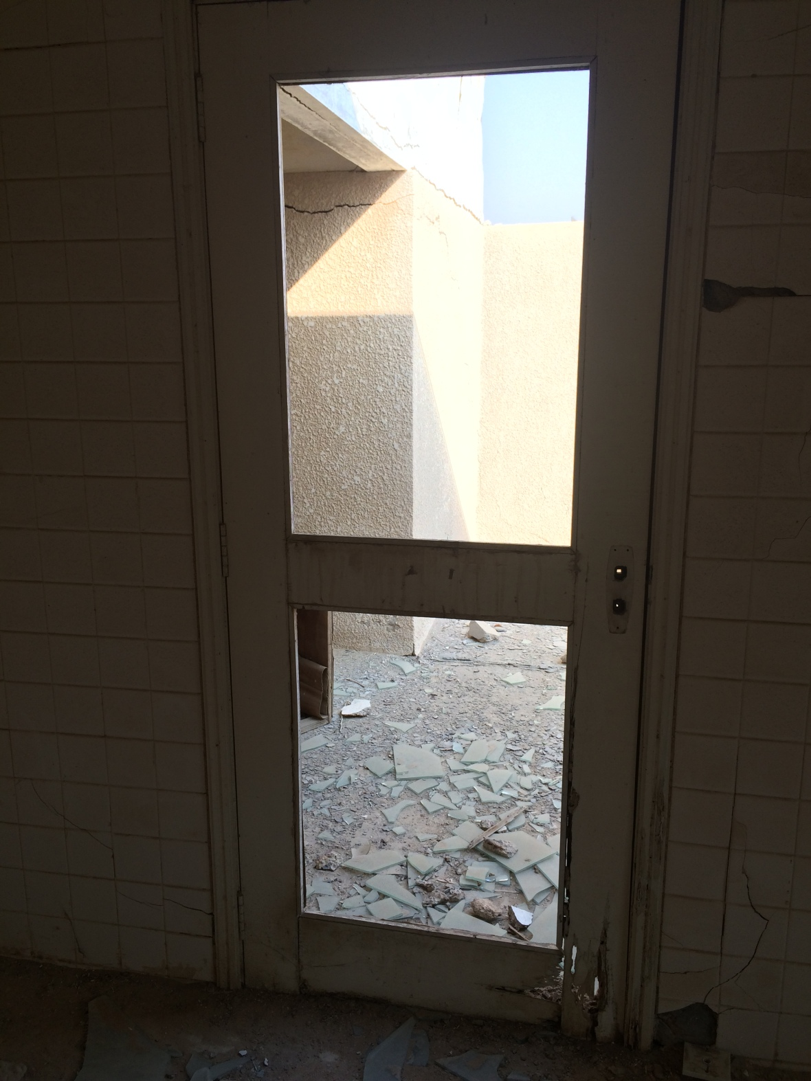 Shattered Glass Through A Broken Door, Al Jazirat Al Hamra, Ras Al Khaimah, UAE
