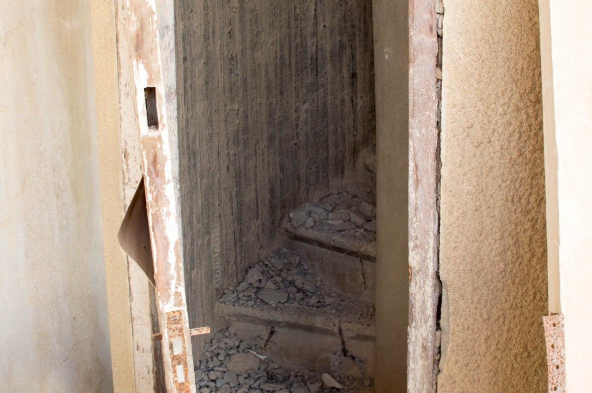 Stairs To Minaret, Mosque, Abandoned City, Al Jazirat Al Hamra, Ras Al Khaimah, UAE